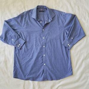 Tommy Hilfiger Blue Checked Dress Shirt XL